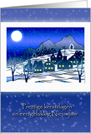 Dutch Christmas, Prettige Kerstdagen, Snowy Village card
