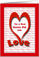 Valentine's Day for Secret Pal, With Love card