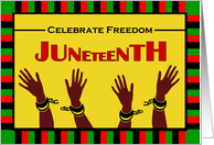Juneteenth, Shackles Broken Illustration card