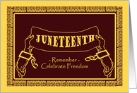 Juneteenth Celebrate Freedom, Shackles Broken Illustration card