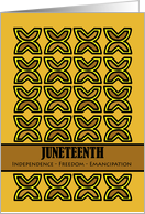 Juneteenth, Symbol of Independence - Freedom - Emancipation card