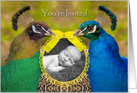 Baby Cradle Ceremony Invitation, Add Your Photo card
