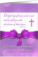 Birthday for Stepdaughter, Psalm 37:4 Scripture in Purple card