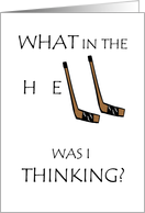 I'm Sorry, H E Double Hockey Sticks Apology card