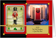 First Christmas in Your New Home, Custom Photo and Text, Nutcracker card