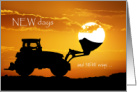 Congratulations on New Tractor, A New Day card