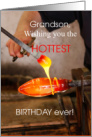 25th Birthday for Grandson, Glassblowing, Art Glass card