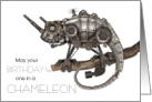 Steampunk Birthday, One in a Chameleon Pun card