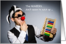 Birthday for Accountant Brother, Clown with Abacus card