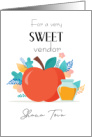 Business Rosh Hashanah for Vendor, Apple and Honey card