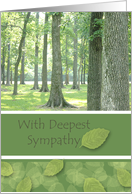With Deepest Sympathy, Illinois Woods card