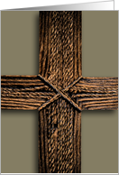 Copper Rope Cross for Ash Wednesday card