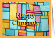 Happy Chuseok Korean Harvest Festival card