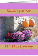 Thanksgiving Remembrance Thinking of You card