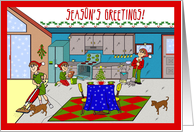 Season's Greetings From Cleaning Service card