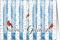 Season's Greetings For Business Customers card