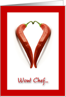 Valentine for Chef, Hot Chili Peppers card