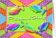Poisson d'Avril, April Fish Easter in French card