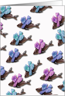Poisson d'Avril P�ques Easter, French Chocolate Fish card