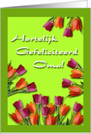 Dutch Birthday Card For Grandma card