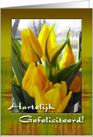Tulips Dutch Birthday Card For Grandma card