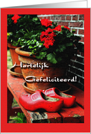 Happy Birthday in Dutch Hartelijk Gefeliciteerd card