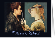 Thank You Humor Renaissance Paintings card