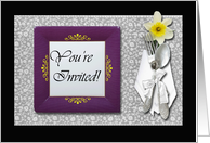 Invitation Rehearsal Dinner Place Setting card