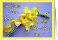 Birthday For Mom-Mom, Yellow Glads card