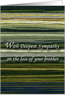 Loss of Brother, Words of Sympathy card