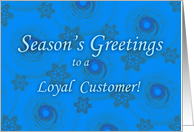 Season's Greetings for Customer card