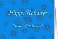Happy Holidays for Customer card