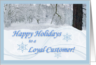Happy Holidays for Loyal Customer card