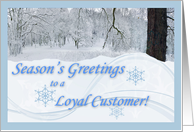 Season's Greetings for Loyal Customer card