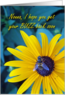 Get Well Nonna, Bee on Flower card