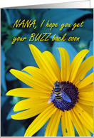 Get Well Nana, Bee on Flower card