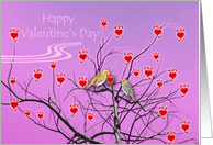 Proposal on Valentine's Day, Birds in Love card