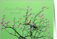 Happy Norooz, Spring Birds in Tree card
