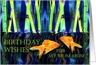 Birthday for Mom Mom, Fish in Water card