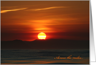 Across the Miles Greeting Card, Setting Sun card