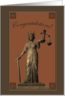Congratulations Card for Making Partner in Law Firm, Lady Justice card