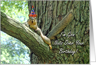 Funny Birthday Greeting Card, Squirrel With Hat card
