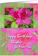Birthday Card for Mom Mom, Azaleas card