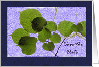 Save the Date, Leaves and Textures card