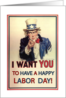 Uncle Sam, Happy Labor Day card