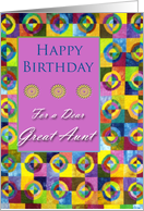 Birthday for Great Aunt, Handmade Quilt card