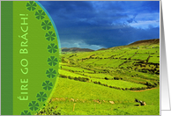 St. Patrick's Day, �ire Go Br�ch, Irish Landscape card