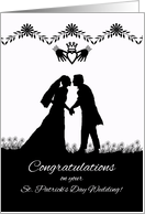 Congratulations on St. Patrick's Day Wedding card