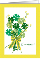 Congratulations on St. Patrick's Day Vow Renewal card