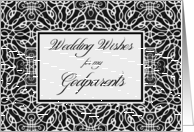 Congratulations to Godparents on Wedding, Elegant Filigree Design card